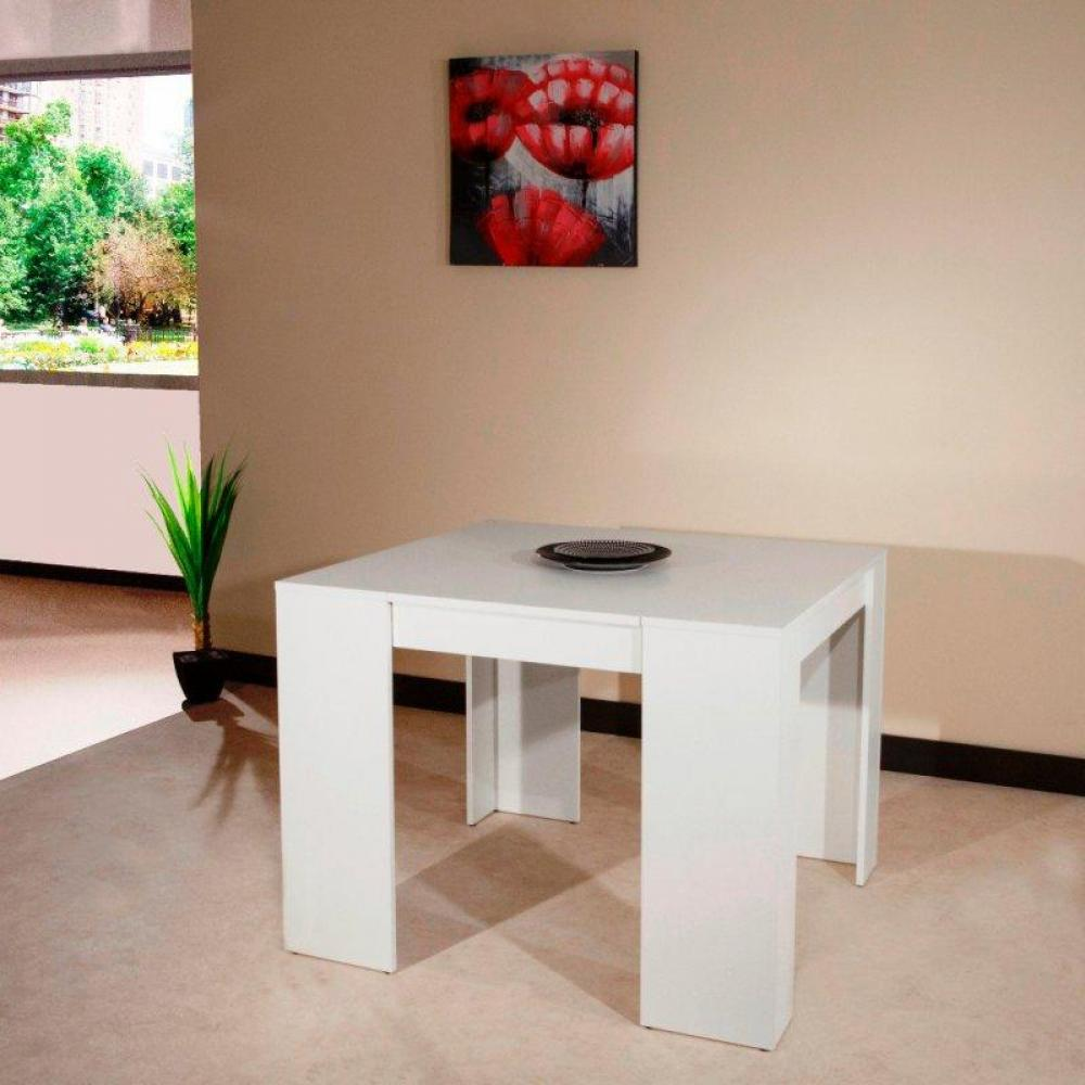 Buffets meubles et rangements console elasto blanc mat extensible en table - Buffet table extensible ...