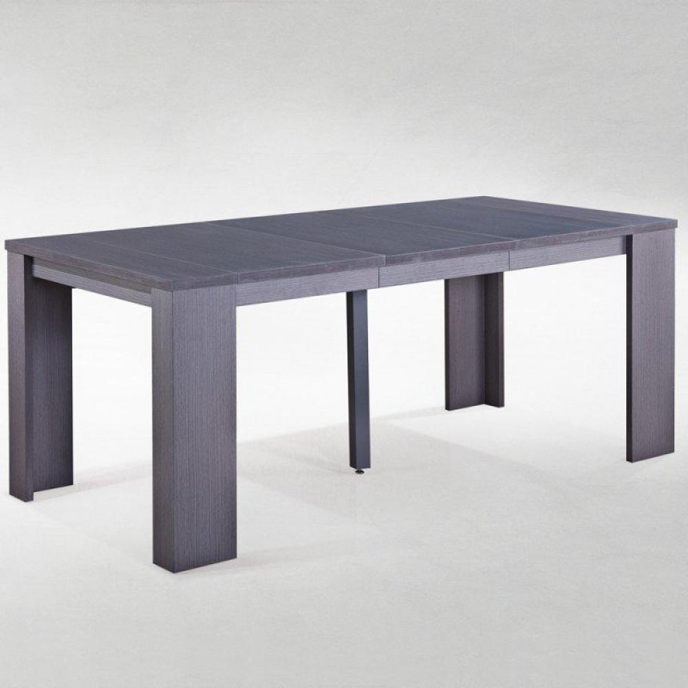 Buffets meubles et rangements console extensible en for Table extensible gris et bois