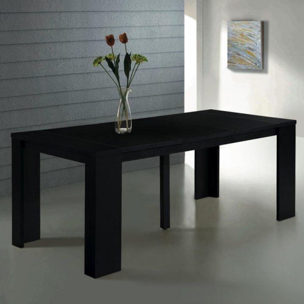 Bureaux tables et chaises console extensible en table repas elasto ch ne no - Table console extensible noir ...