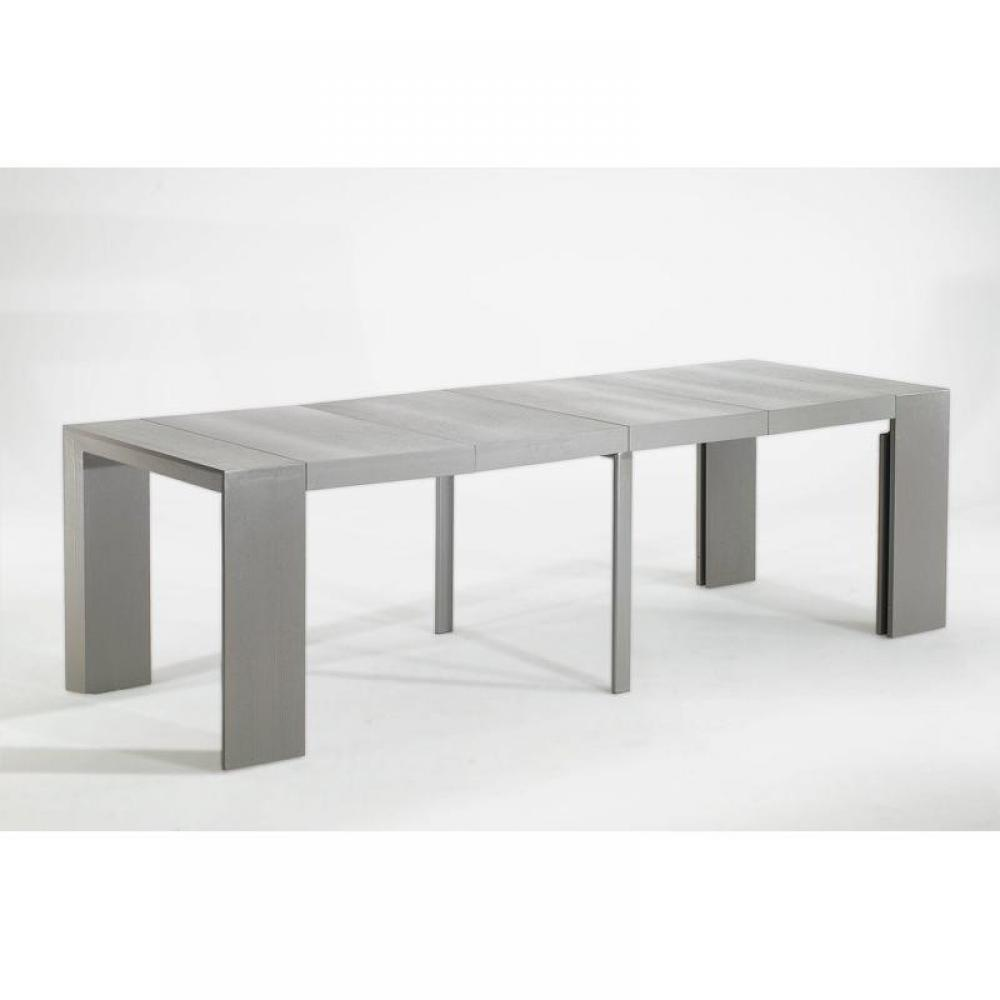 Consoles extensibles tables et chaises console extensible en table repas ex - Table console extensible grise ...