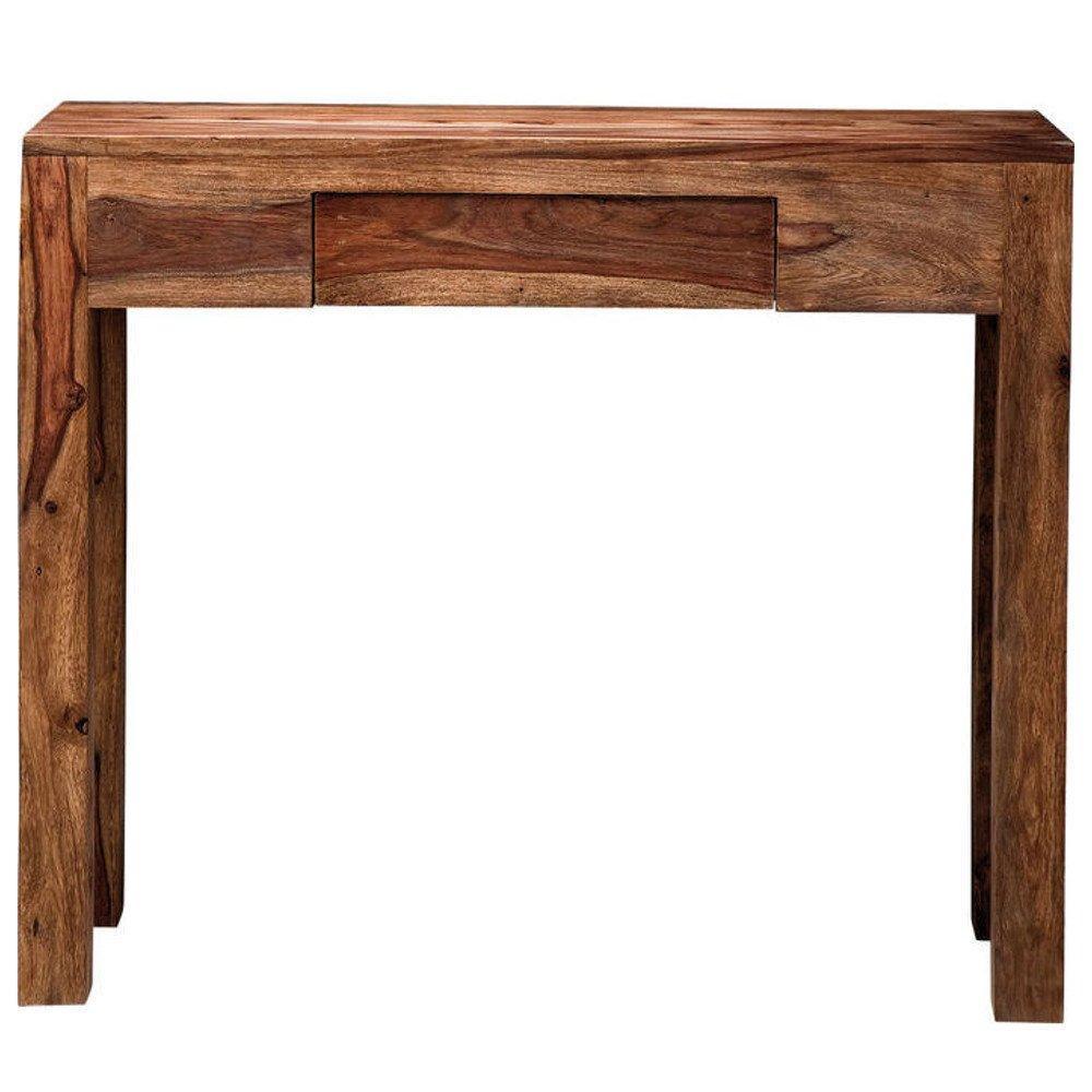 Consoles, tables et chaises, Console WOOD en bois massif, 1 tiroir Inside75 # Console Bois Massif