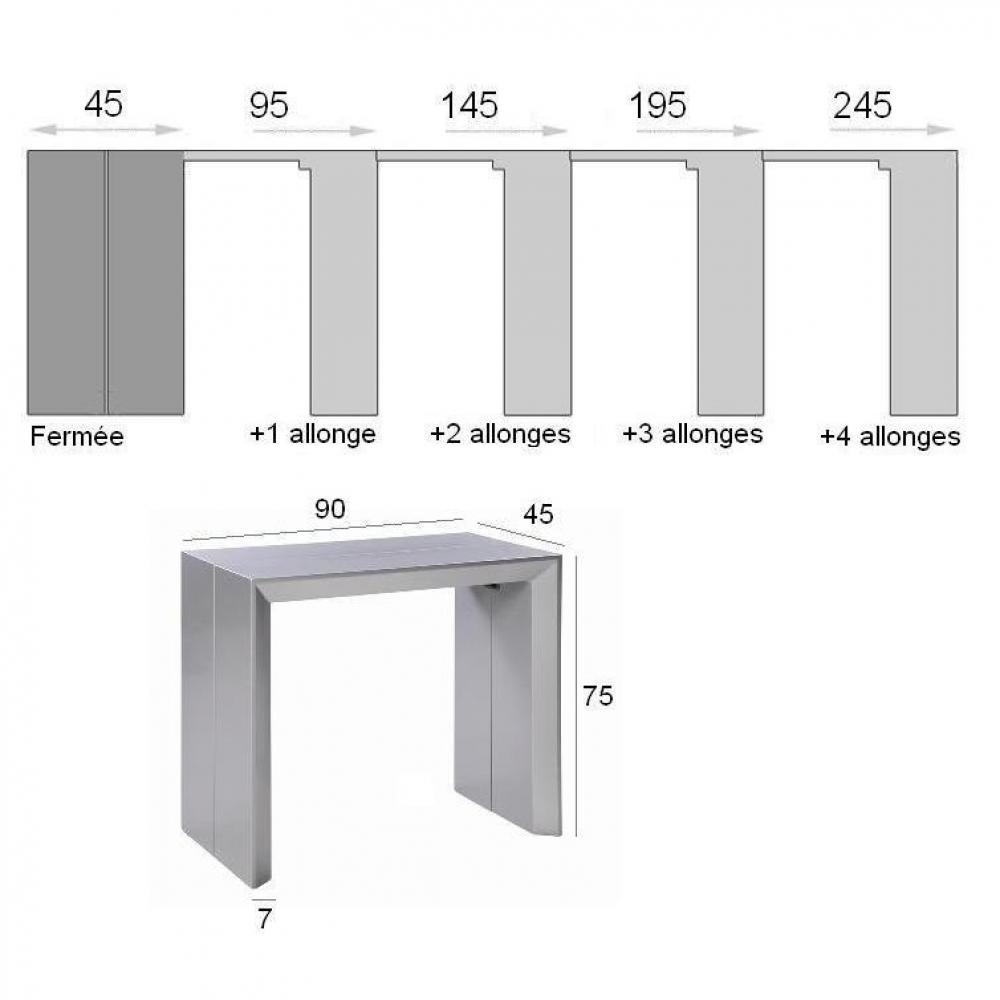 Consoles extensibles tables et chaises console for Table extensible gris clair