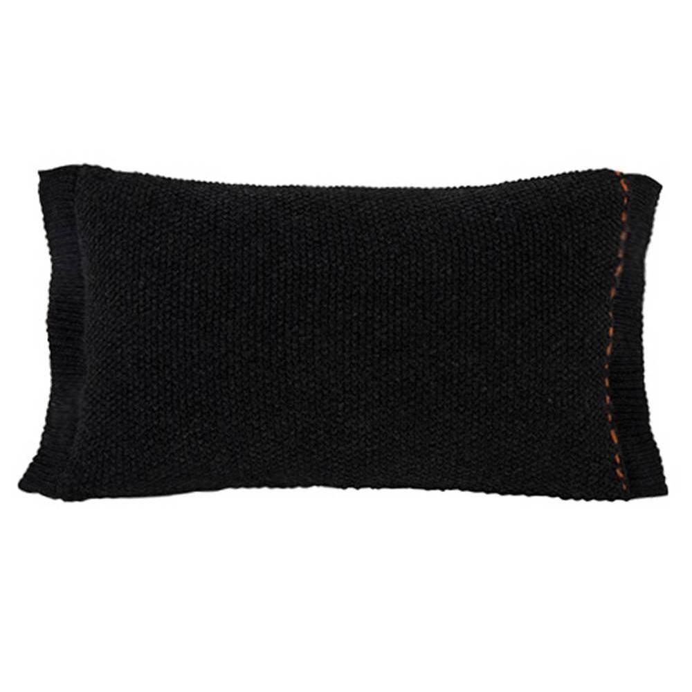 coussins canap s et convertibles coussin rectangle zuiver aster noir inside75. Black Bedroom Furniture Sets. Home Design Ideas