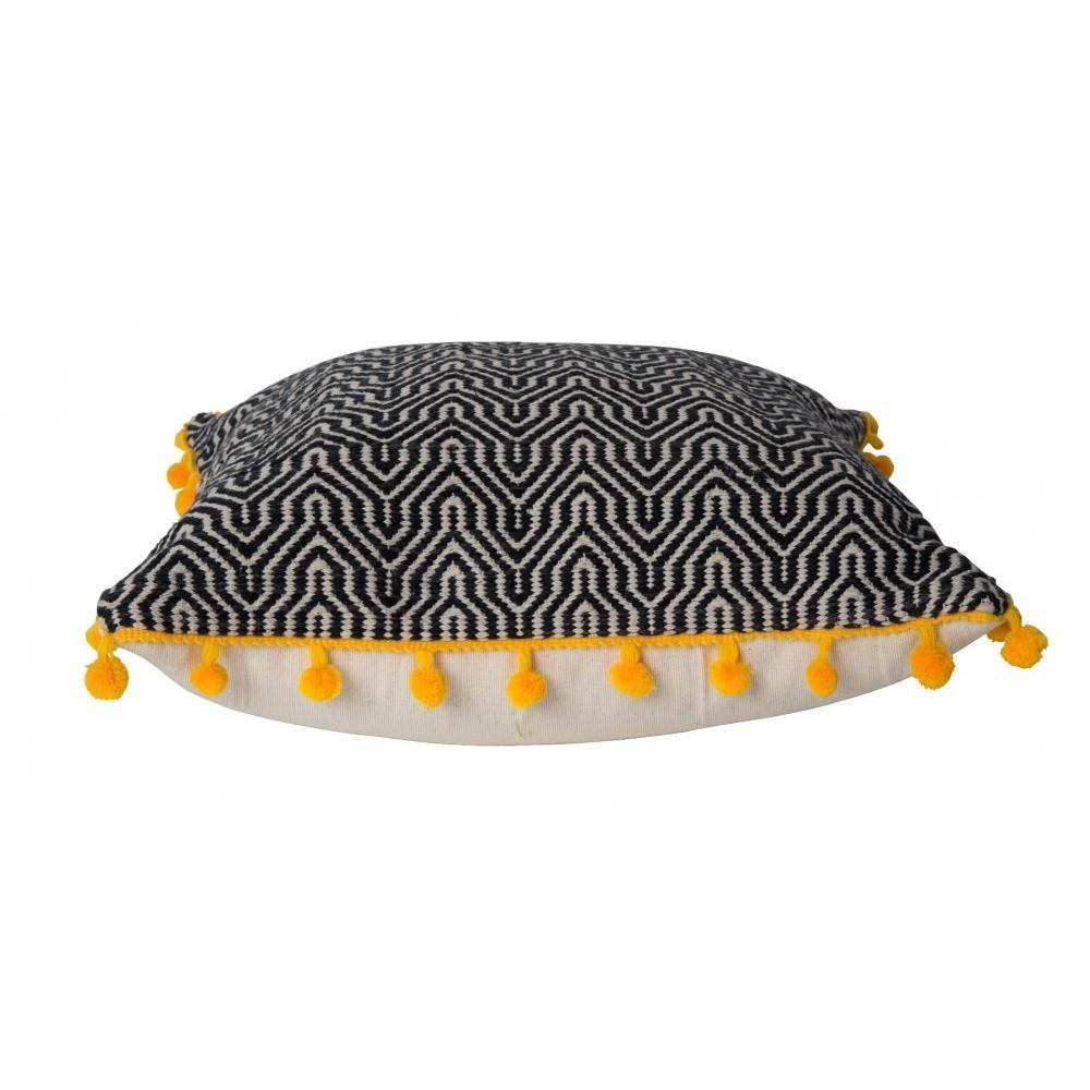 Coussins Canap S Et Convertibles Zuiver Coussin Ziggy Pompons Jaune Inside75