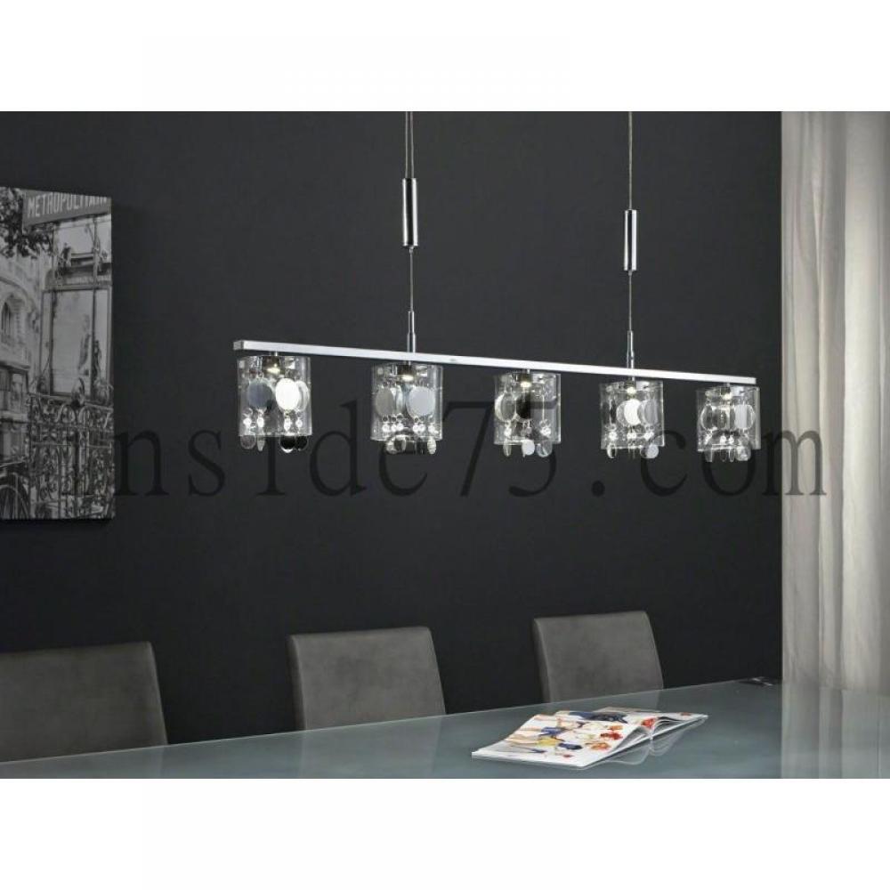 Lampes meubles et rangements multi lustre chandelier suspendu 6 leds insi - Plafonnier suspendu design ...