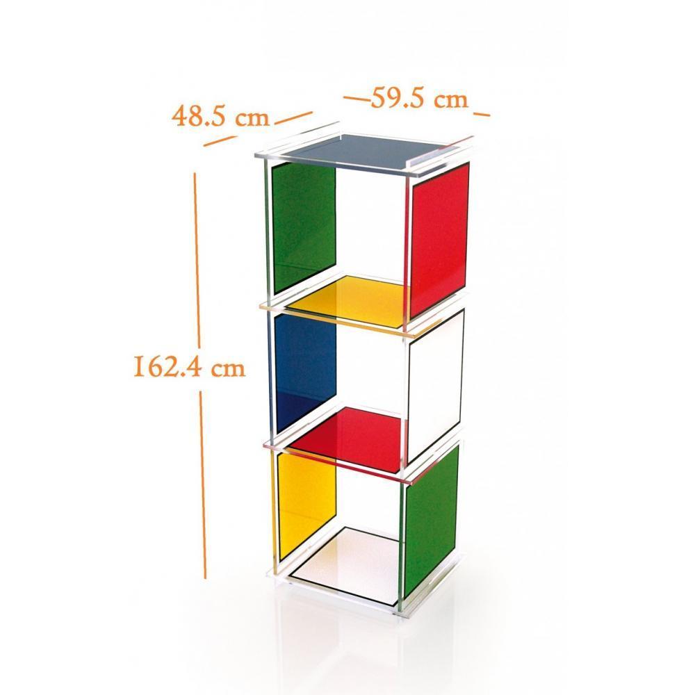 Biblioth ques tag res meubles et rangements etag re colonne cube 3 castelb - Etagere plexiglas design ...