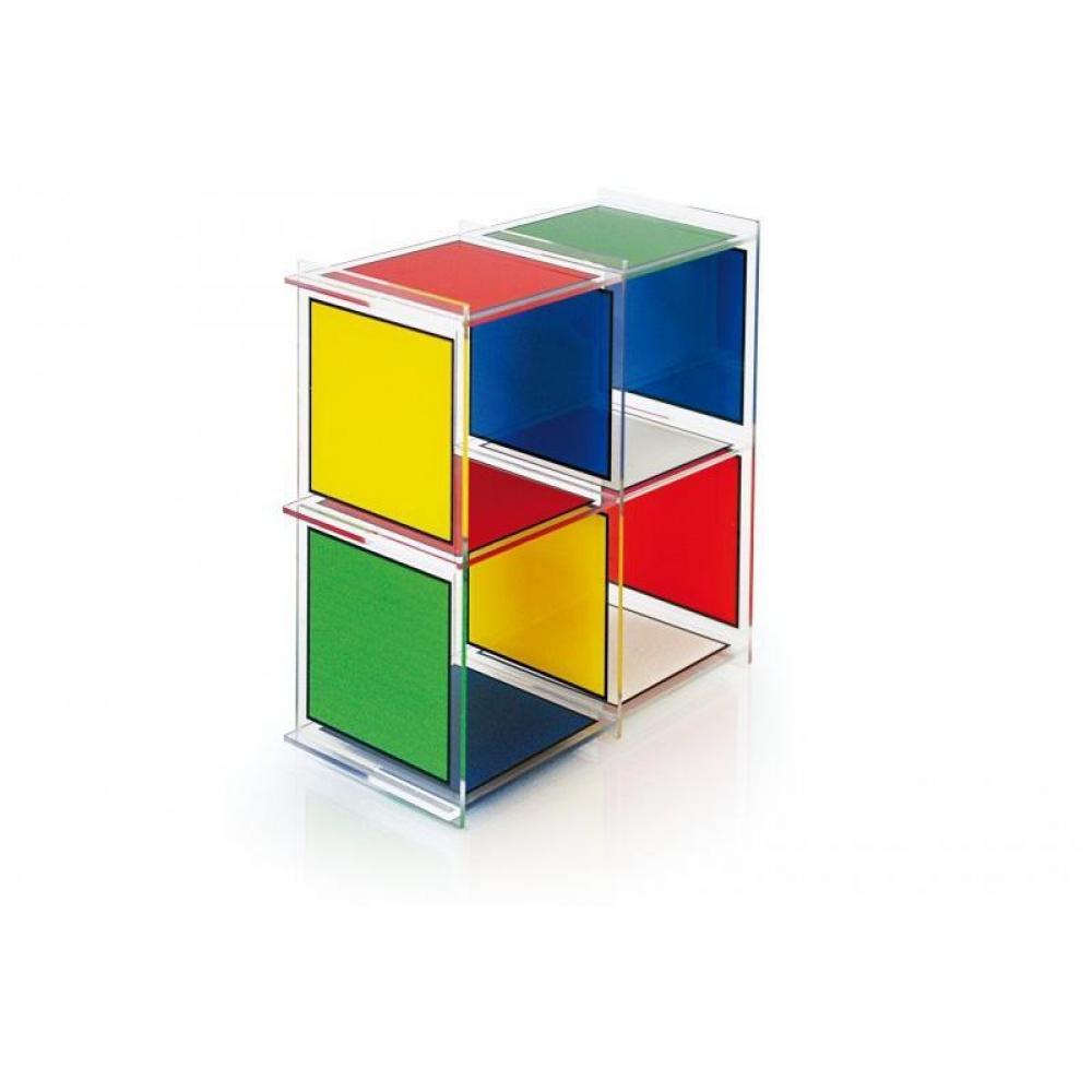 chaises meubles et rangements etag re cube 4 castelbajac plexiglass acrila design inside75. Black Bedroom Furniture Sets. Home Design Ideas