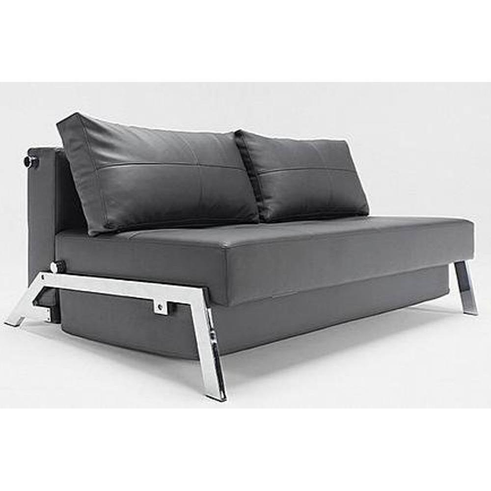 canap lit design sofabed cubed tissu enduit noir convertible 200 140 ebay. Black Bedroom Furniture Sets. Home Design Ideas