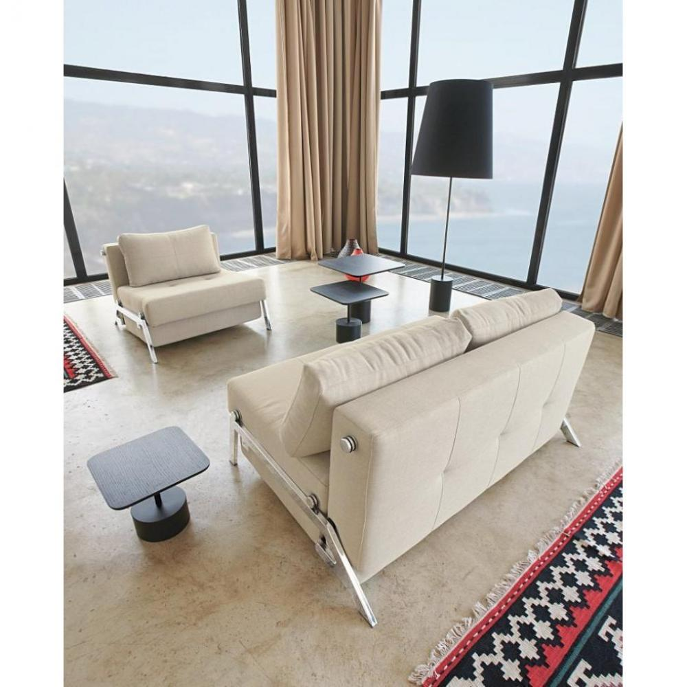 canap lit design sofabed cubed beige innovation convertible 200 140. Black Bedroom Furniture Sets. Home Design Ideas