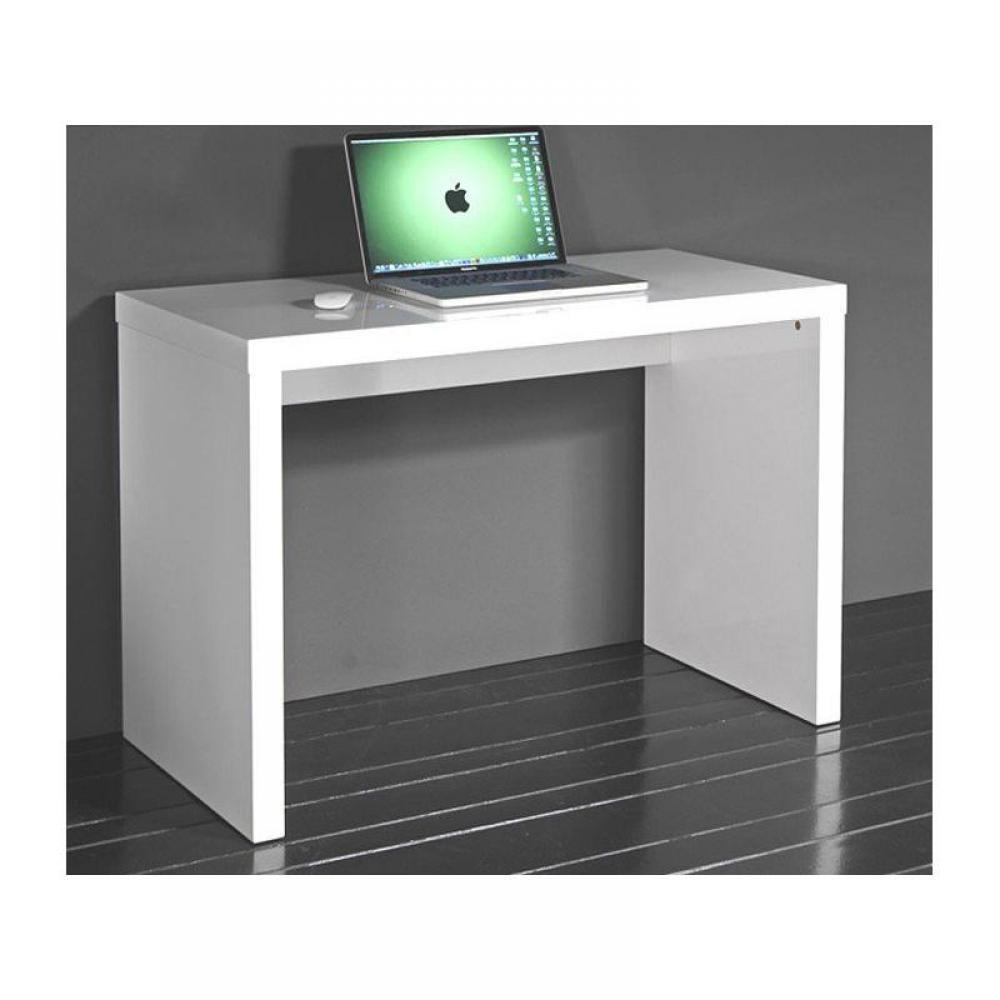 Consoles meubles et rangements cubic console laqu e blanc brillant inside75 - Console laquee blanc ...