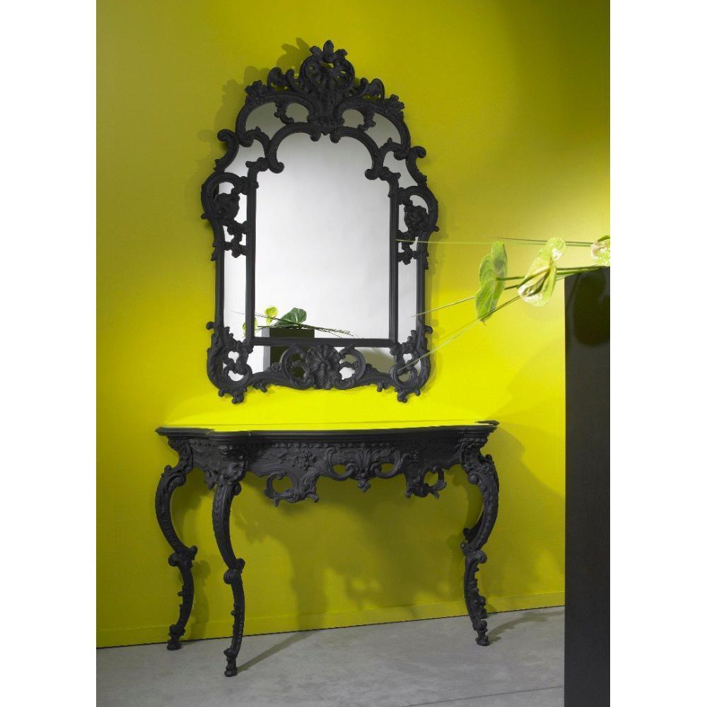 Miroirs meubles et rangements daylight miroir mural for Miroir design noir