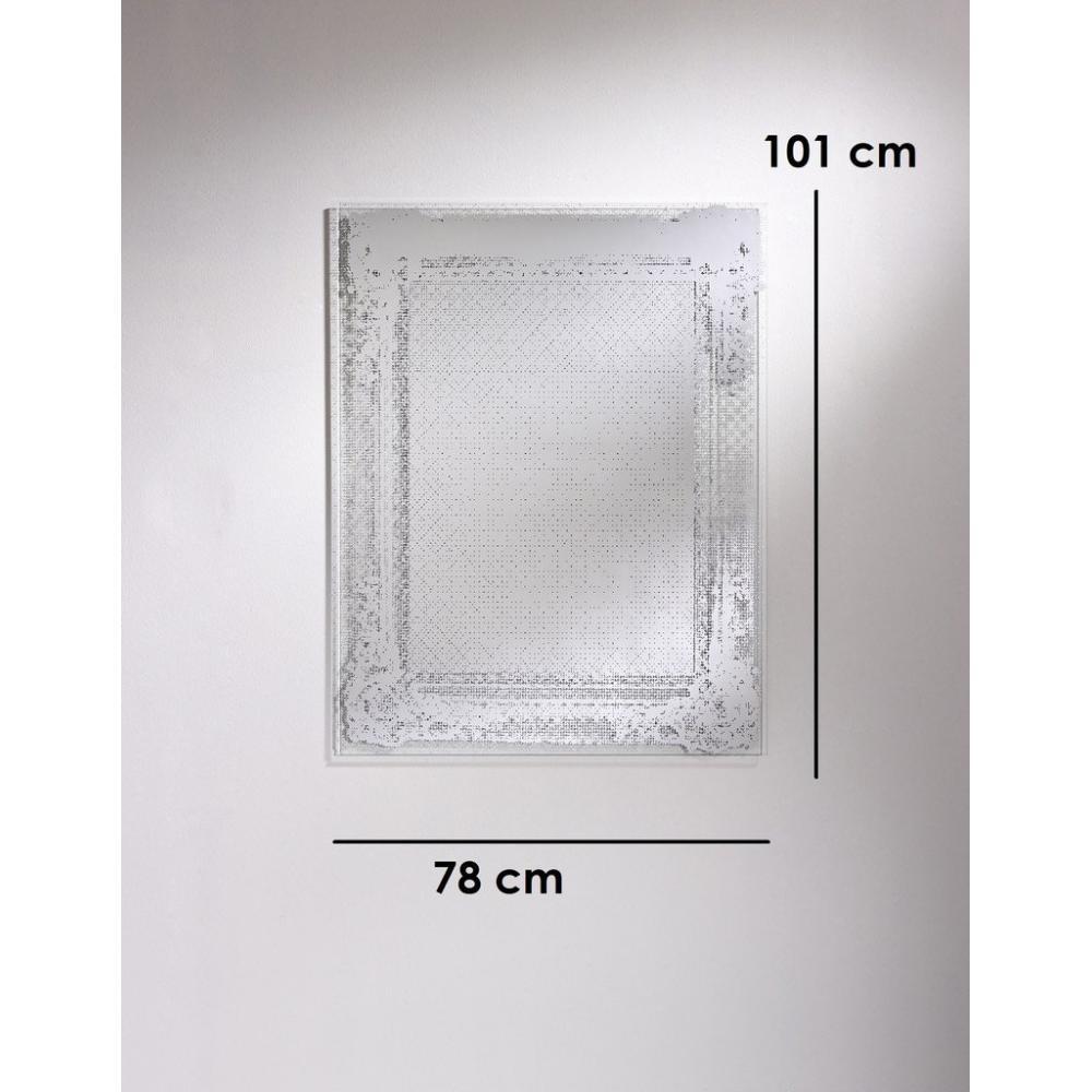 Dentelle miroir mural design en verre ebay for Argenture miroir