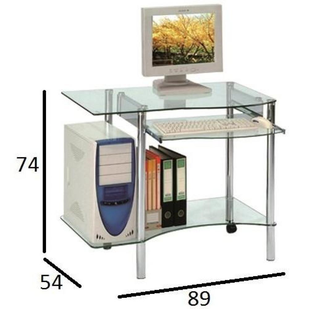 bureaux meubles et rangements desktop bureau pour ordinateur en verre inside75. Black Bedroom Furniture Sets. Home Design Ideas