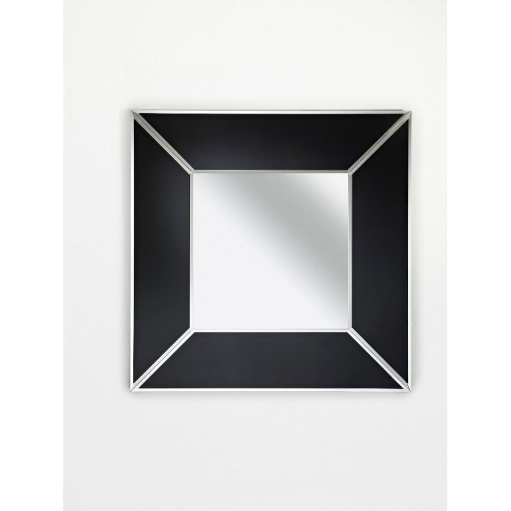 miroirs canap s et convertibles diamant miroir mural design en verre noir. Black Bedroom Furniture Sets. Home Design Ideas