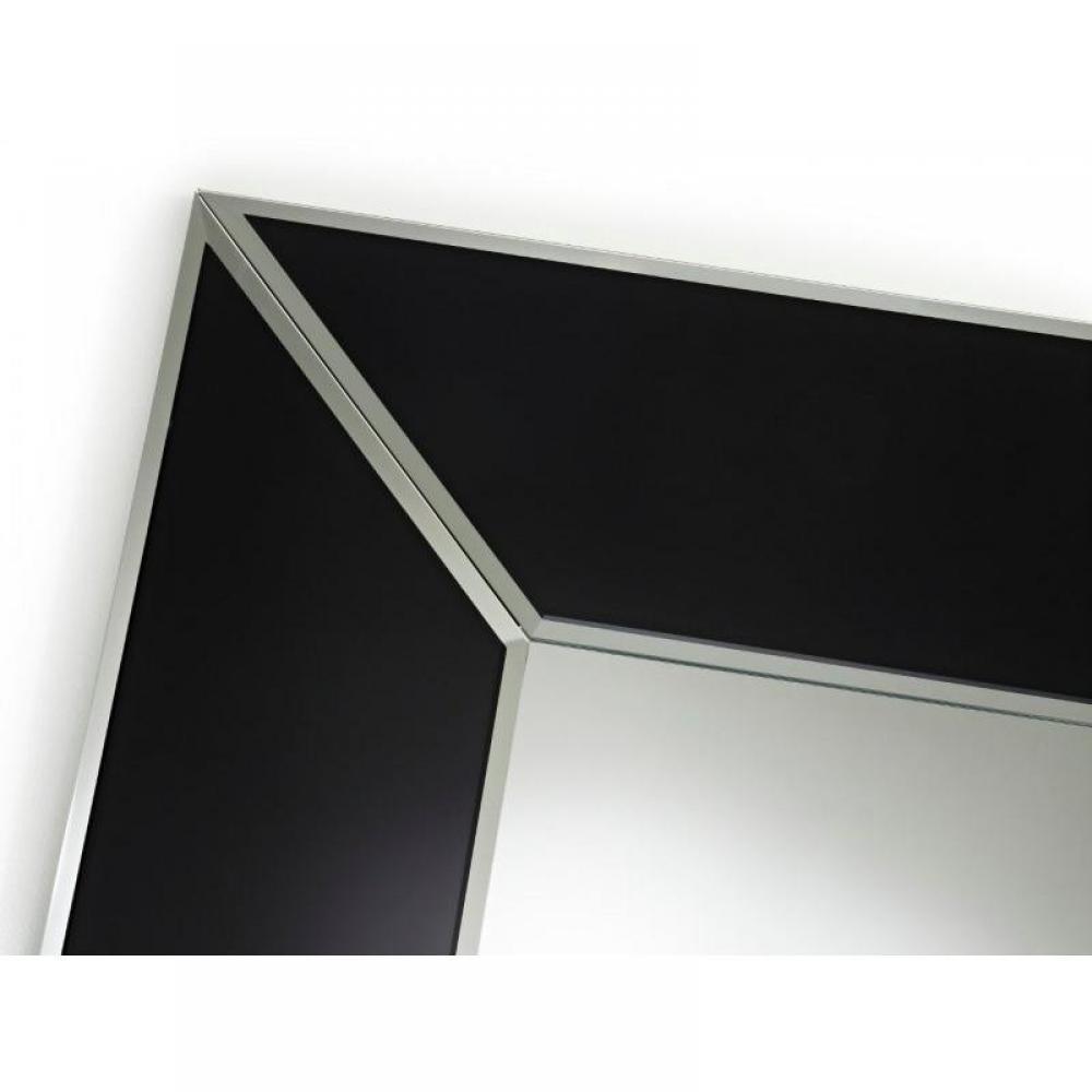 Diamant miroir mural design en verre noir place du mariage for Miroir design noir