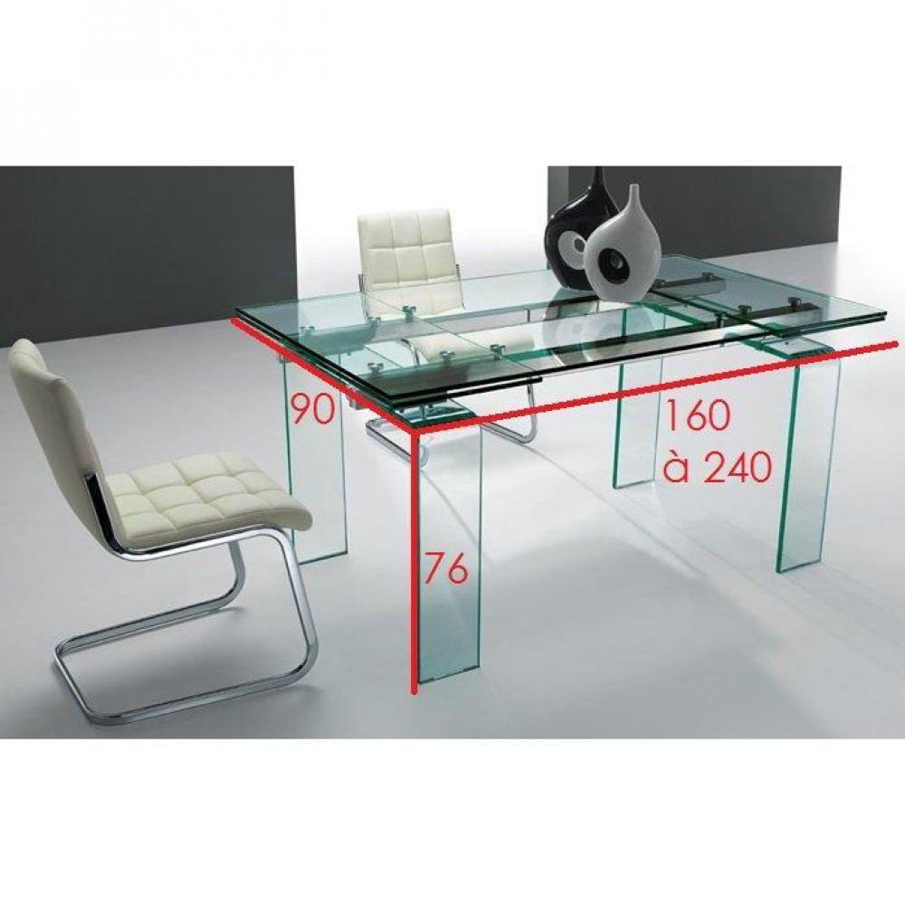 Un bol d 39 air dans votre salon la table extensible aero est parfaite pou - Verre securit pour table ...