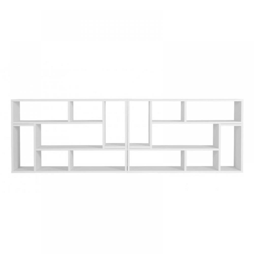Biblioth ques tag res meubles et rangements domino 3 casiers biblioth que - Etagere laquee blanc ...