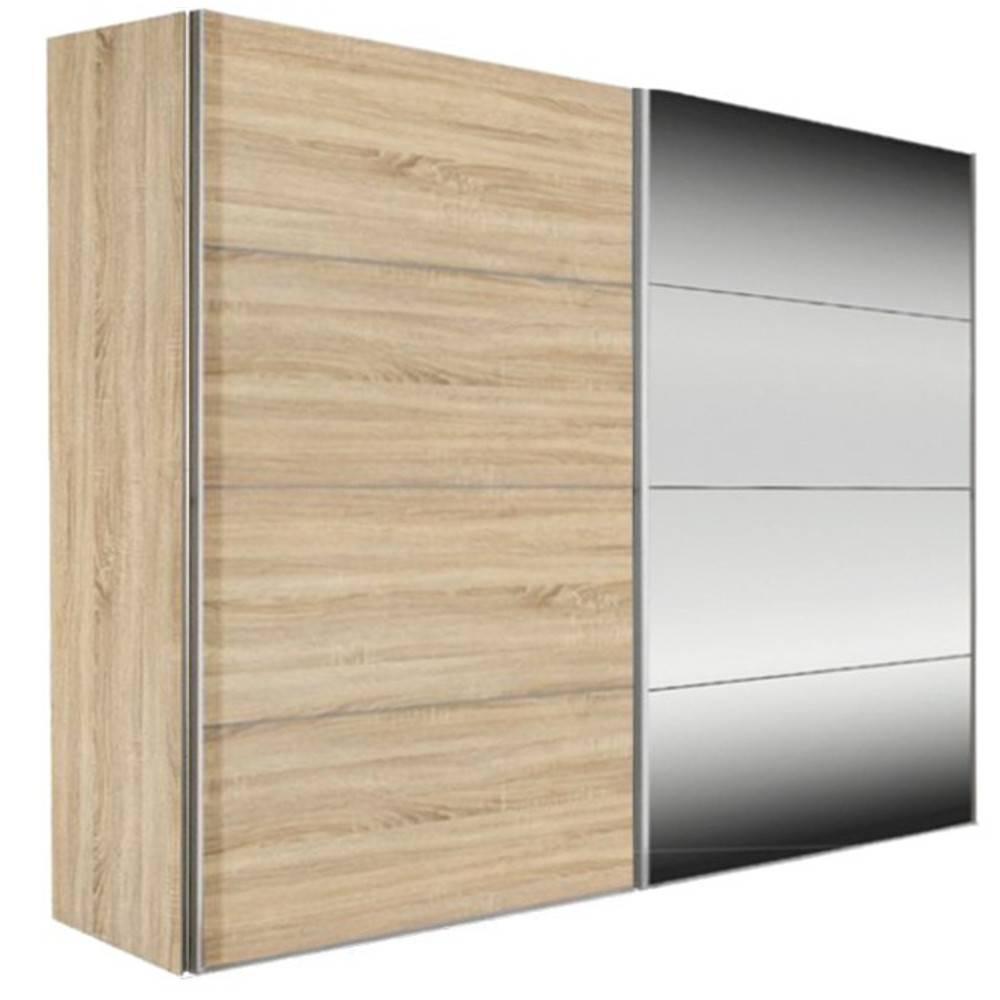 Dressings et armoires meubles et rangements dressing kick 202cm avec chene - Dressing portes coulissantes miroir ...