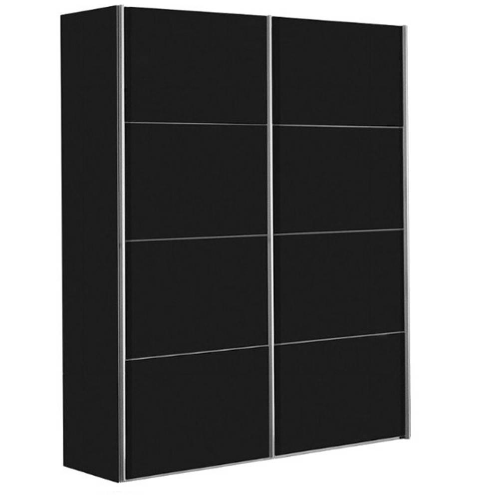 dressings et armoires meubles et rangements dressing kick 152cm en melamin noir mat avec. Black Bedroom Furniture Sets. Home Design Ideas