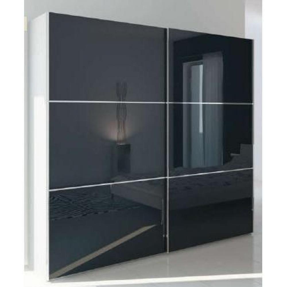 Dressings et armoires meubles et rangements dressing 2 portes coulissantes - Dressing blanc laque ...