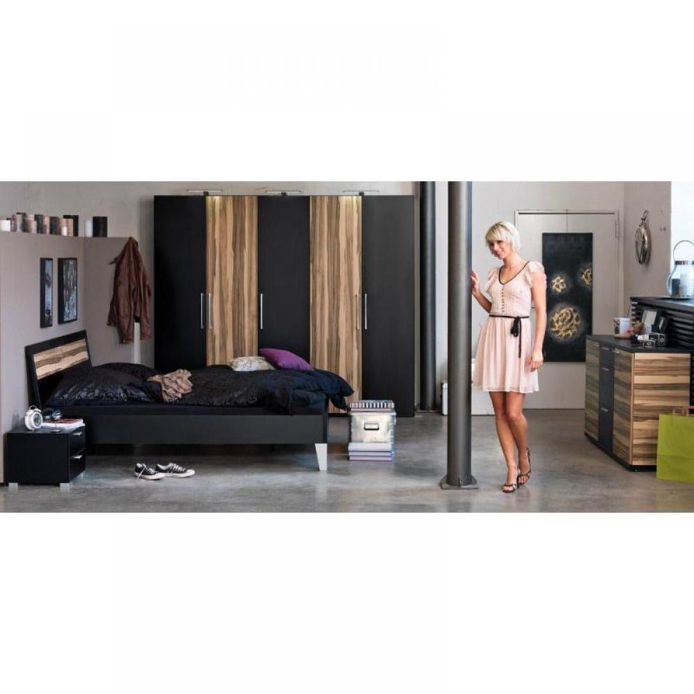 dressings et armoires chambre literie dressing penderie paris une porte abattant noir. Black Bedroom Furniture Sets. Home Design Ideas