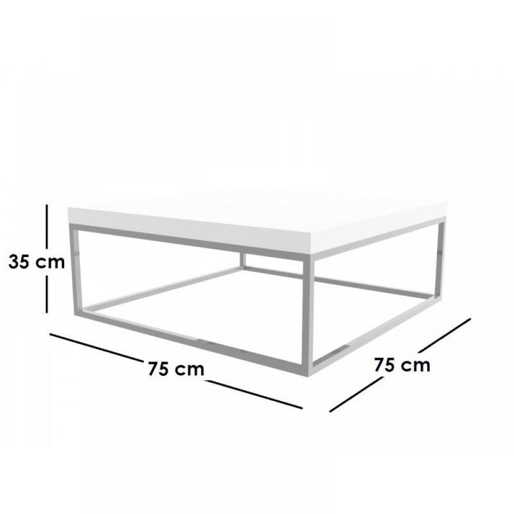 Tables basses canap s et convertibles duke table basse for Table basse carree blanc laquee