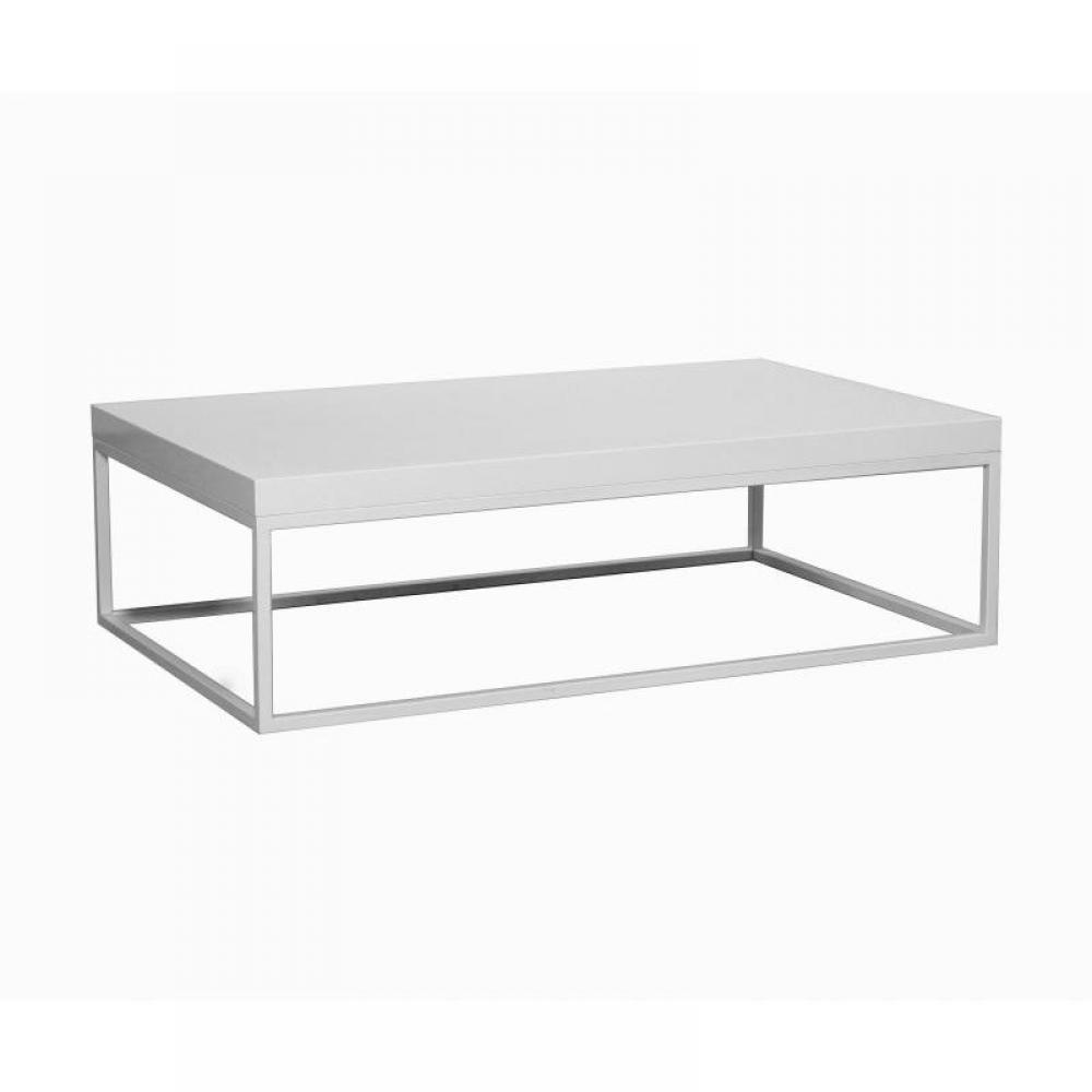 Table basse rectangulaire blanche maison design - Table basse blanche rectangulaire ...