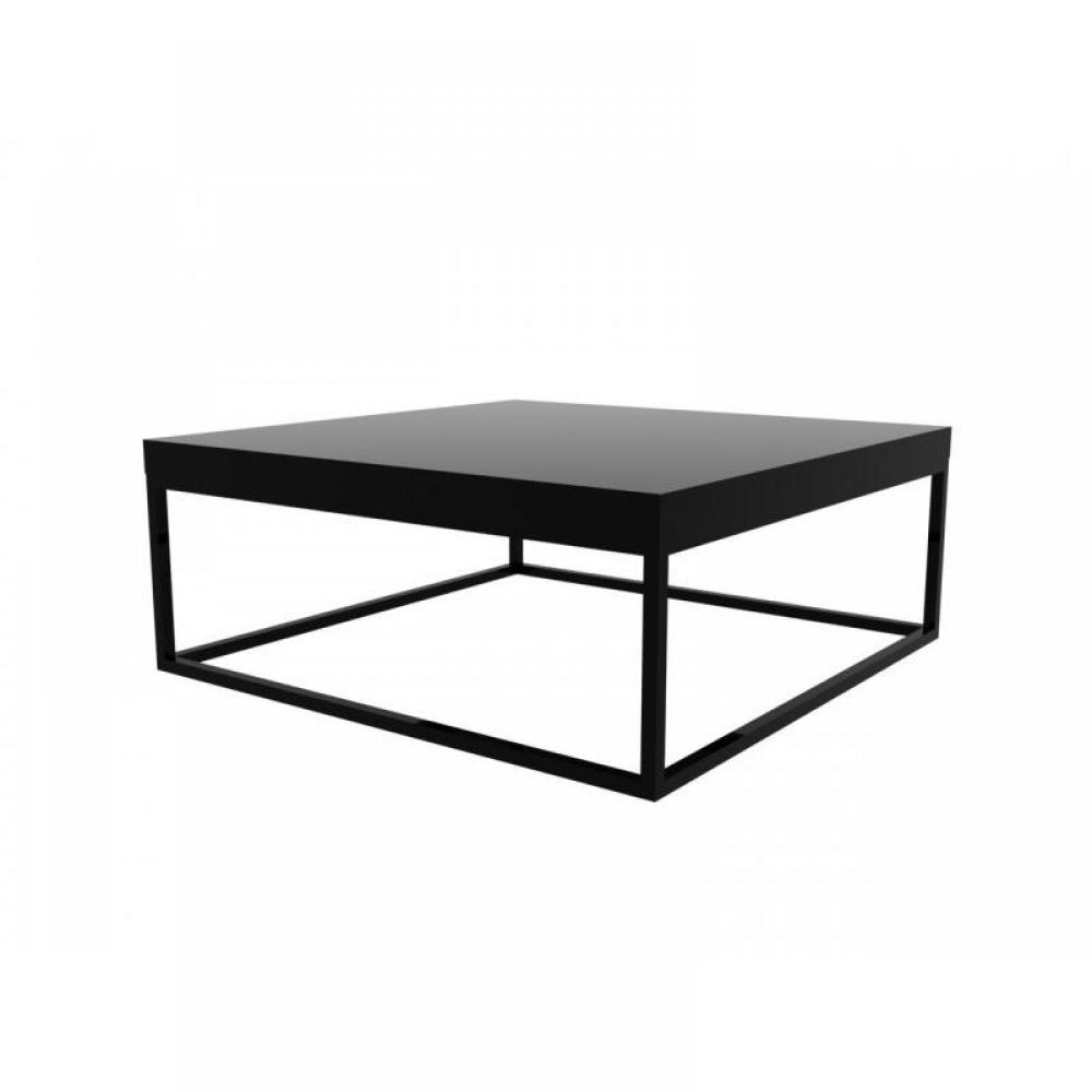 Table basse carree metal noir - Tables basses noires ...