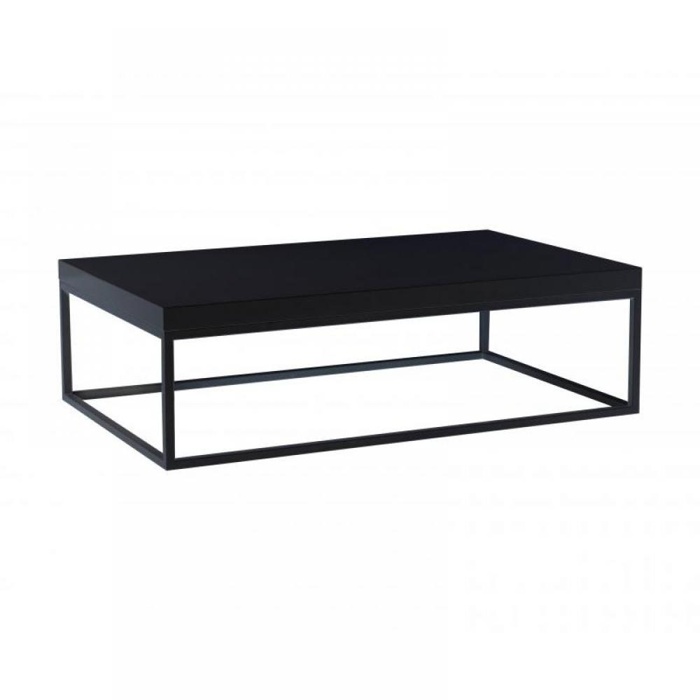 Pied de table basse rectangulaire - Table basse rectangulaire noire ...