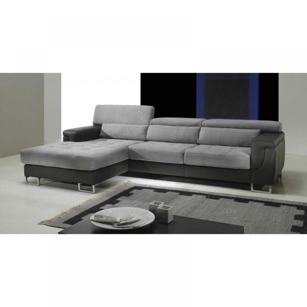 canape angle convertible microfibre gris. Black Bedroom Furniture Sets. Home Design Ideas