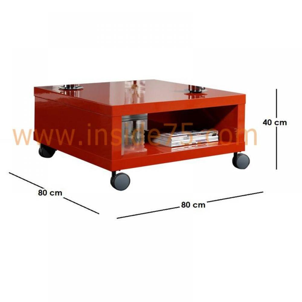 tables basses meubles et rangements table basse mobile elegance avec rangements laqu e rouge. Black Bedroom Furniture Sets. Home Design Ideas