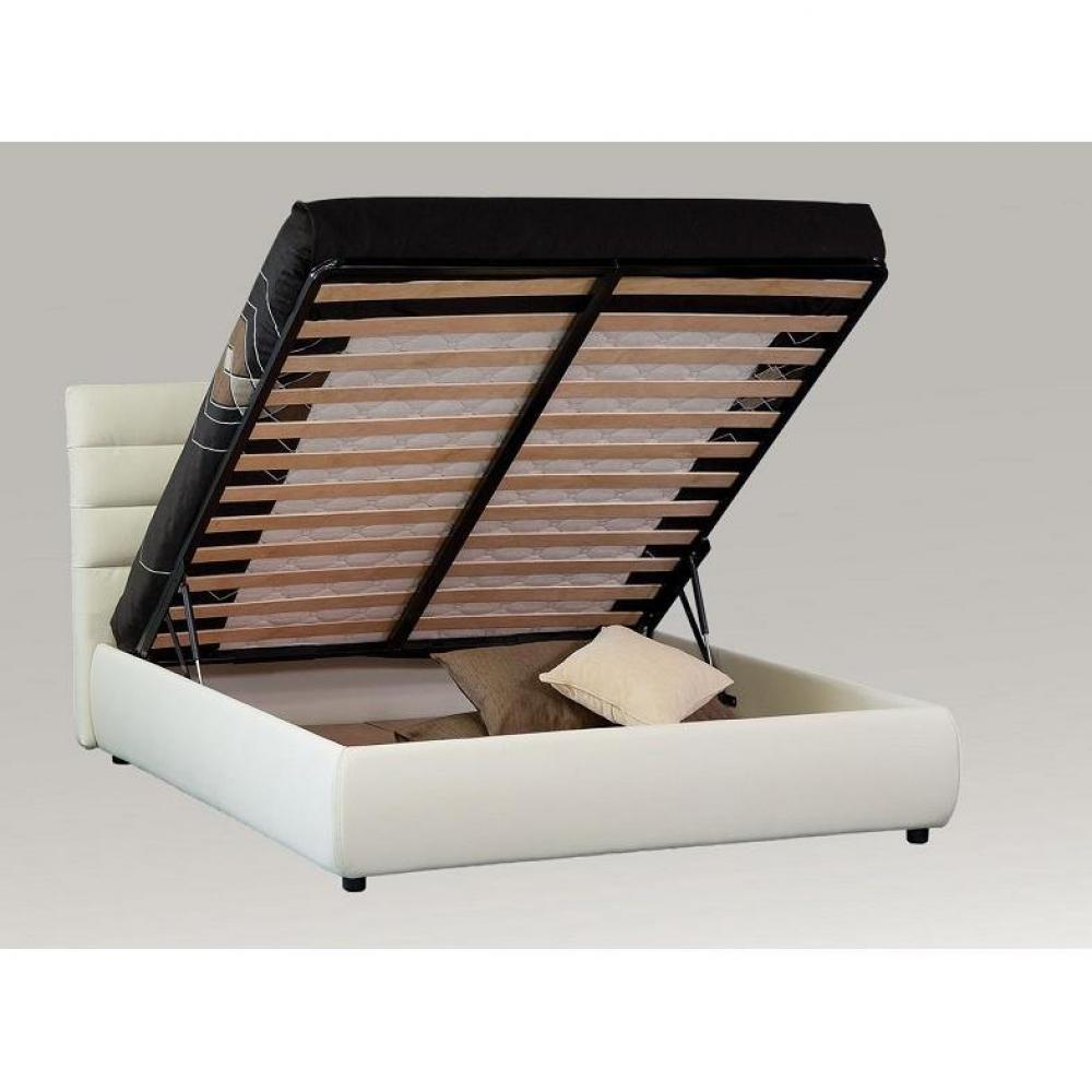 Lits coffres chambre literie lit coffre design - Lit avec rangement en dessous ...