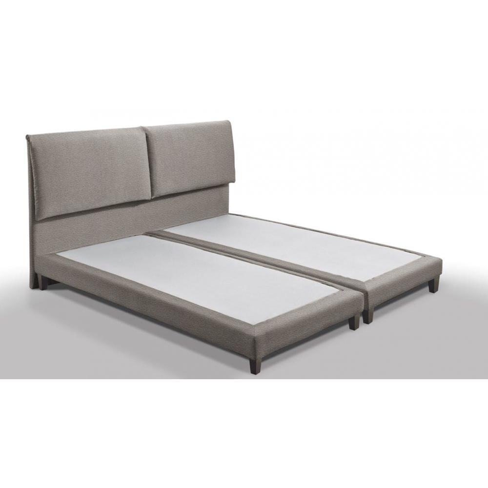 lits chambre literie sommier balzac haut de gamme 140 190 cm avec t te de lit inside75. Black Bedroom Furniture Sets. Home Design Ideas