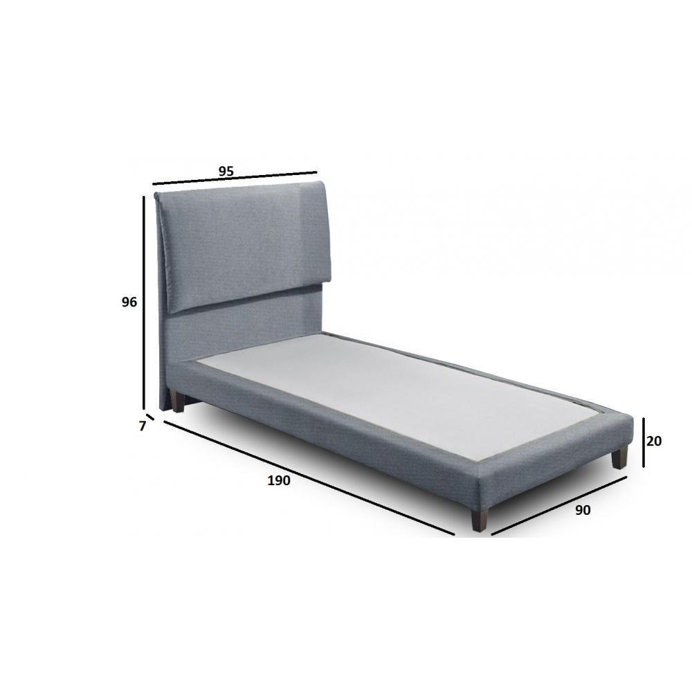 lits design chambre literie lit design haut de gamme balzac 90 190 cm tissu tweed bleu. Black Bedroom Furniture Sets. Home Design Ideas