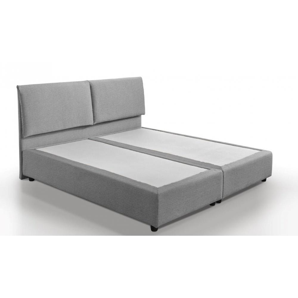 lit design haut de gamme fouquet 140 190 cm tissu tweed gris silex ebay. Black Bedroom Furniture Sets. Home Design Ideas