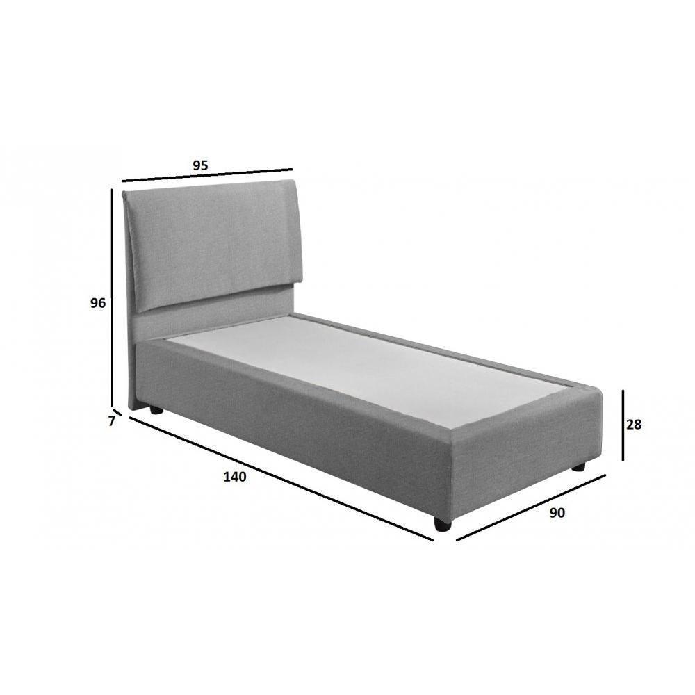 lits design chambre literie lit design haut de gamme fouquet 90 190 cm tissu tweed gris. Black Bedroom Furniture Sets. Home Design Ideas