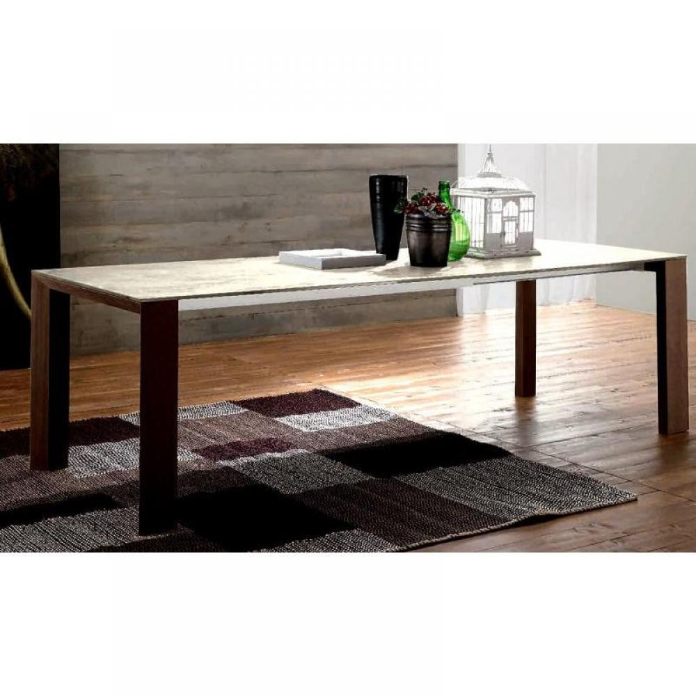 Tables repas tables et chaises equinox table repas for Table verre blanc extensible