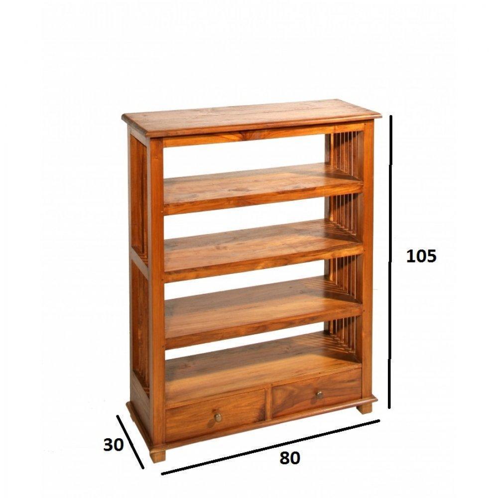 Biblioth ques tag res meubles et rangements biblioth que ajour e api 3 ta - Bibliotheque en teck massif ...