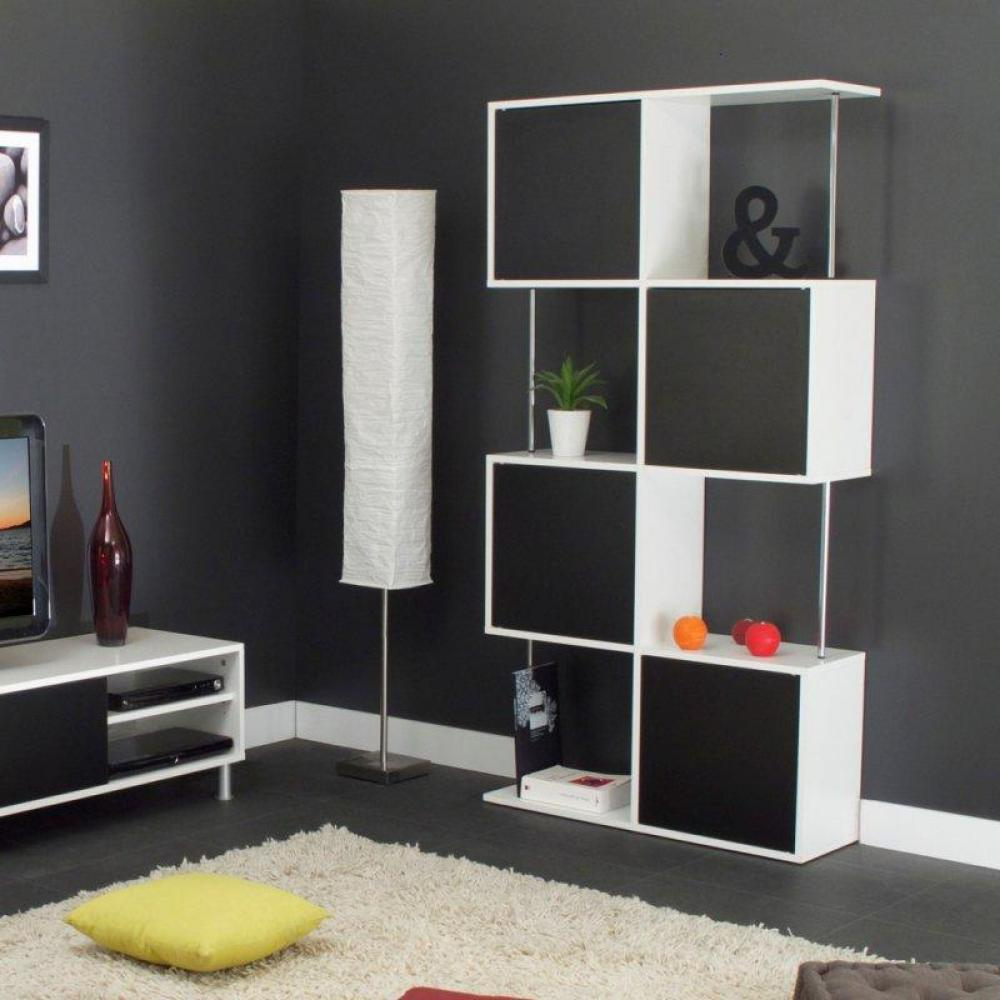 biblioth ques tag res meubles et rangements box tag re biblioth que semi ferm e blanc et. Black Bedroom Furniture Sets. Home Design Ideas