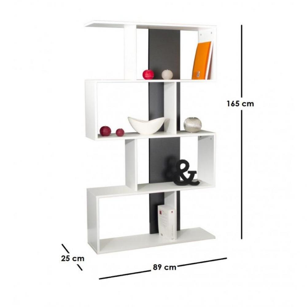 Biblioth ques tag res meubles et rangements box tag re biblioth que ouver - Etagere noir et blanc ...
