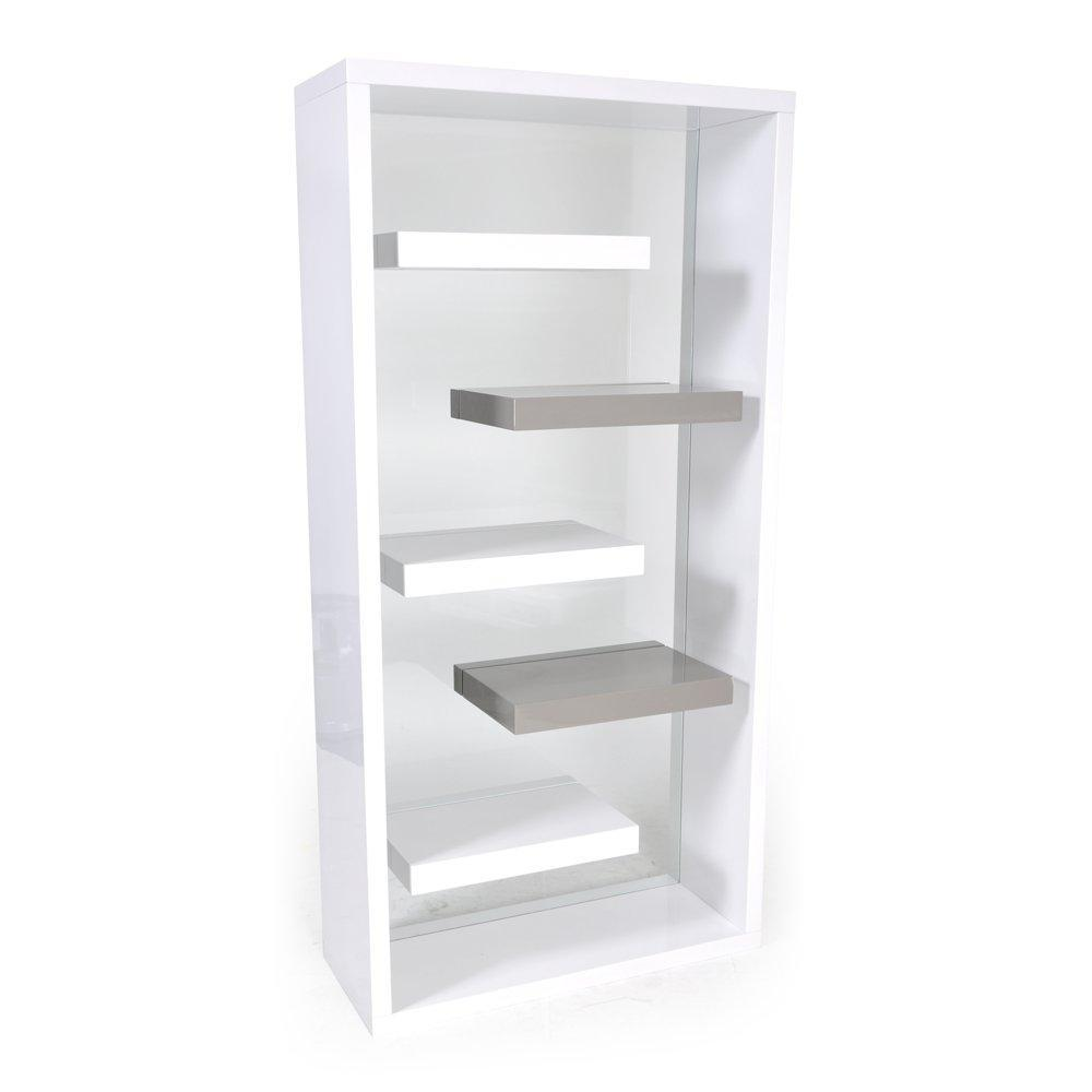 Biblioth ques tag res meubles et rangements tag re space blanc laqu i - Etagere blanc laque ikea ...
