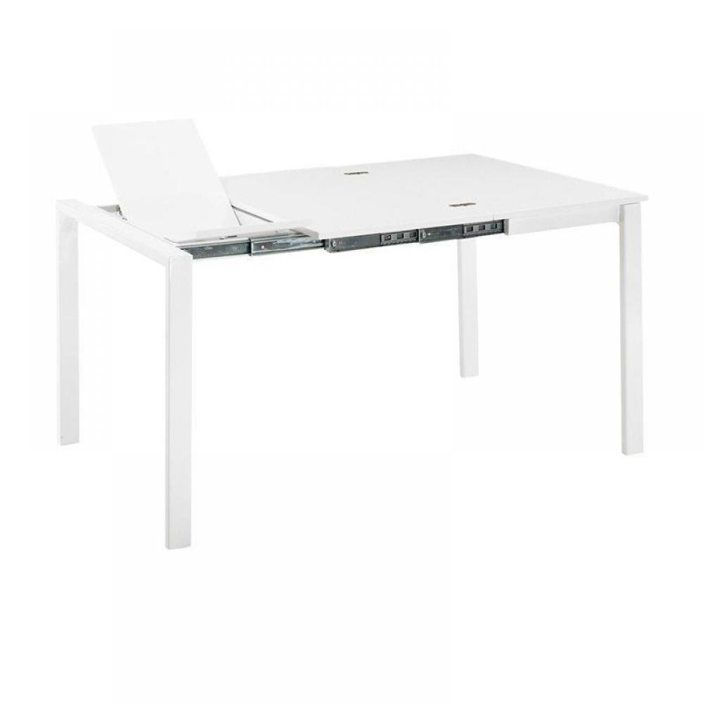 Description - Table console extensible blanche ...