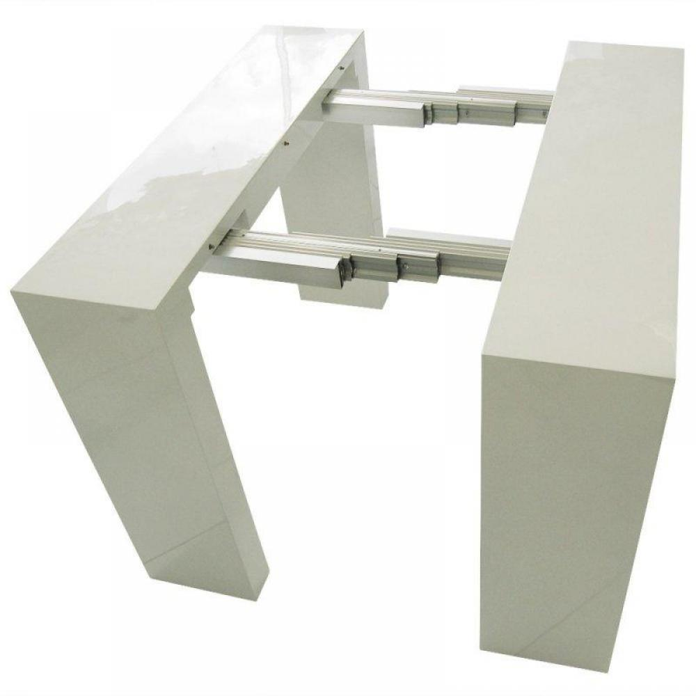 Consoles extensibles meubles et rangements console table for Table blanc laquee carree extensible