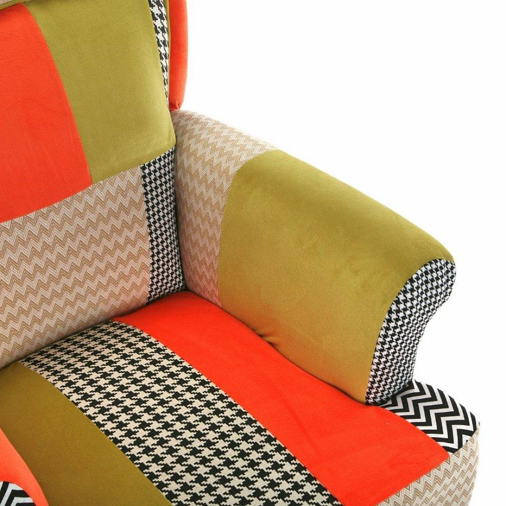 chauffeuses canap s et convertibles houndstooth fauteuil design patchwork avec accoudoirs. Black Bedroom Furniture Sets. Home Design Ideas