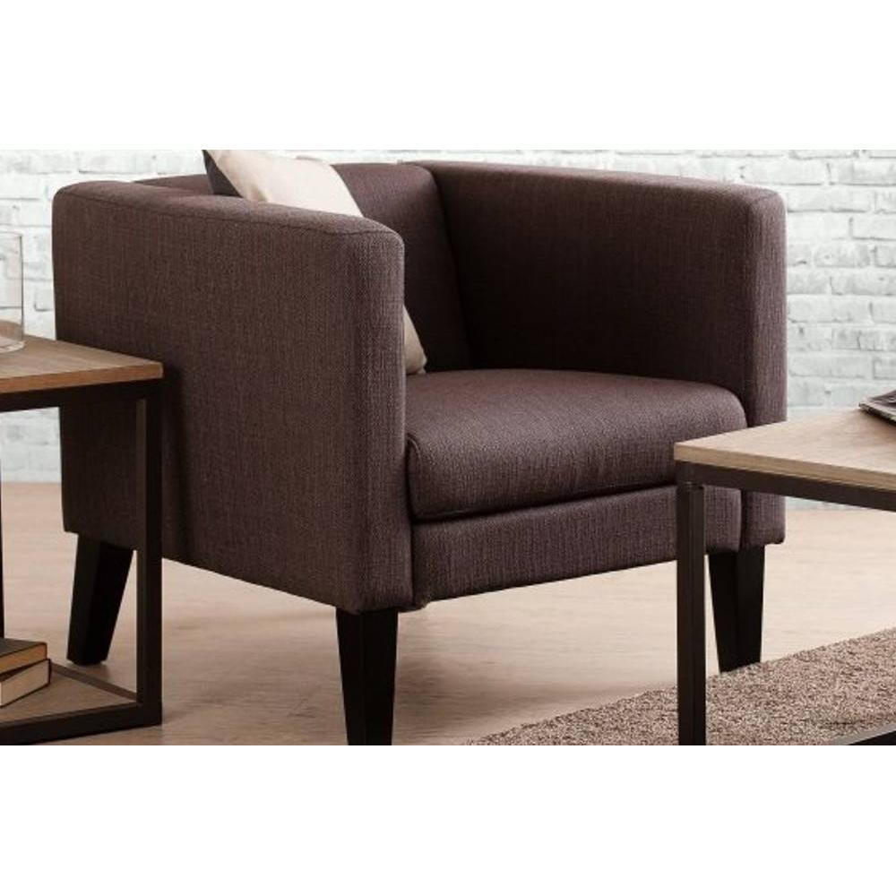 fauteuils design fauteuils et poufs fauteuil design arthur carr en tissu marron inside75. Black Bedroom Furniture Sets. Home Design Ideas