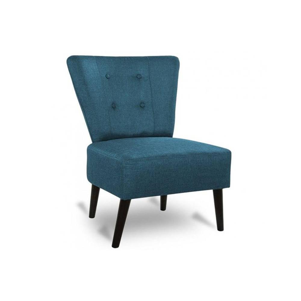 fauteuils design fauteuils et poufs fauteuil arthur en tissu bleu inside75. Black Bedroom Furniture Sets. Home Design Ideas