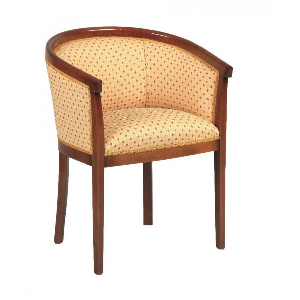 Fauteuils design canap s et convertibles fauteuil baron merisier et tissu j - Fauteuil ancien en bois ...