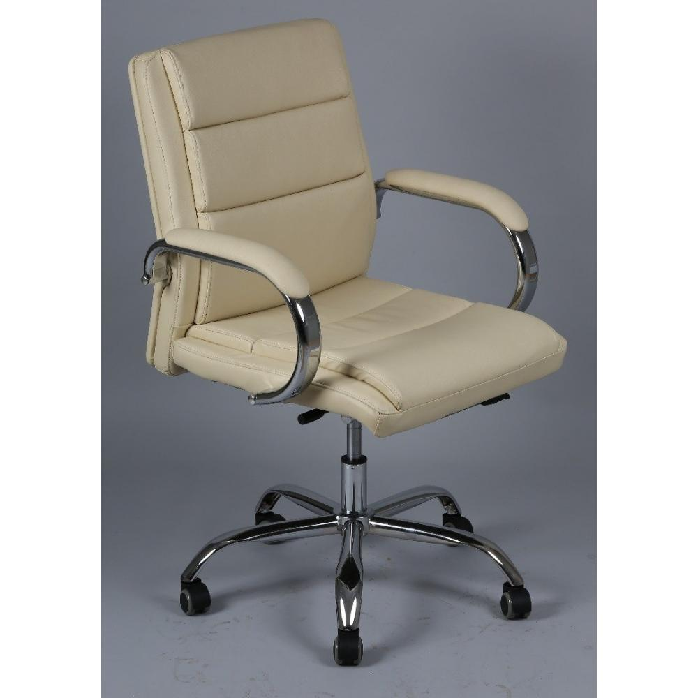 fauteuil de bureau r glable daytona mini en simili cuir beige ebay. Black Bedroom Furniture Sets. Home Design Ideas