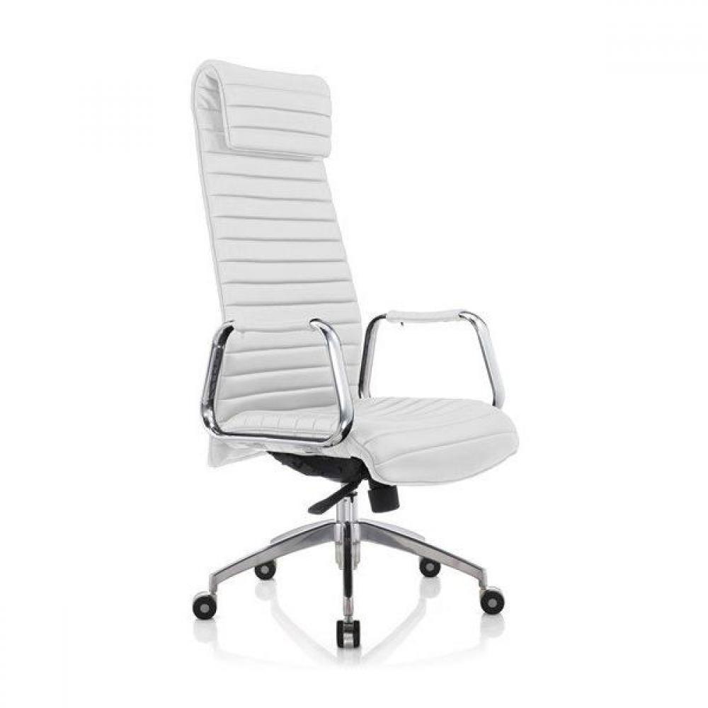 chaises de bureau meubles et rangements fauteuil de bureau r glable kentucky en cuir blanc. Black Bedroom Furniture Sets. Home Design Ideas