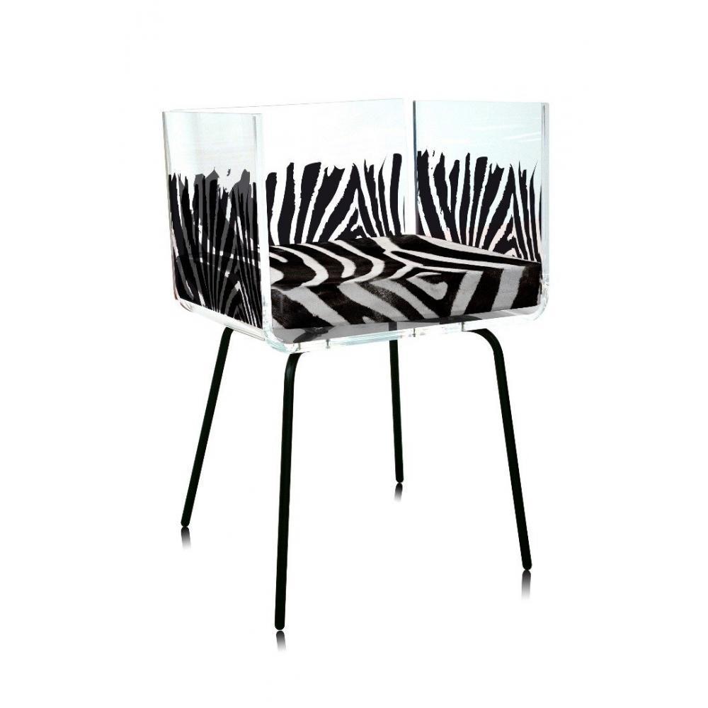 Chaises tables et chaises fauteuil cali zebre par acrila - Fauteuil zebre ...